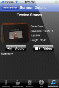 iOS Sermon Details